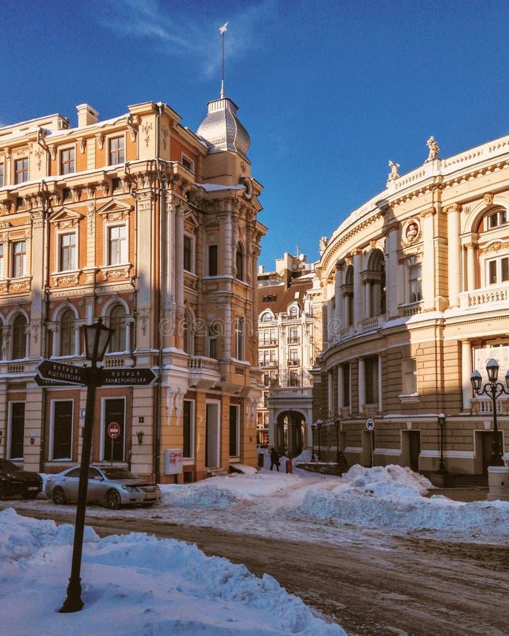 Théatre de l'$opéra d'Odessa photo libre de droits