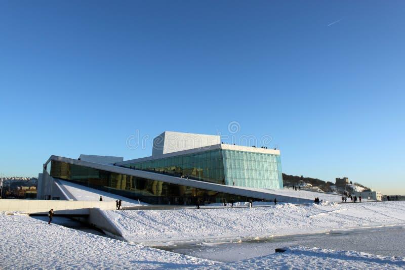 Théatre de l'$opéra d'Oslo image stock