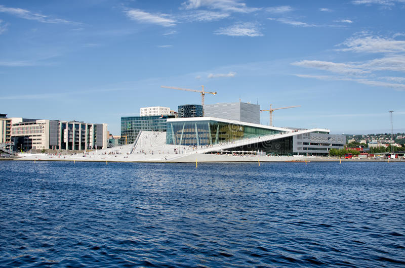 Théatre de l'opéra d'Oslo photo libre de droits
