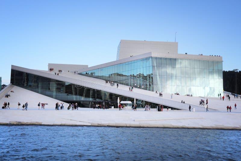 Théatre de l'opéra d'Oslo images libres de droits