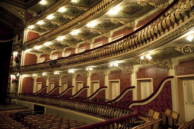 Théatre de l'opéra de Manaus à l'intérieur photographie stock libre de droits
