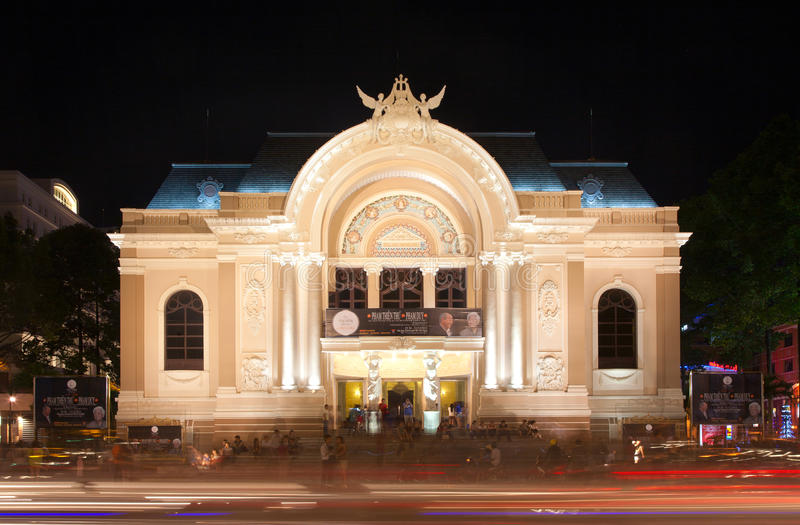 Théatre de l'$opéra de Saigon photos stock