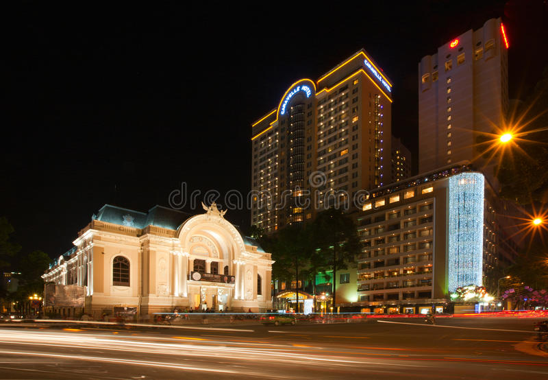 Théatre de l'$opéra de Saigon images stock