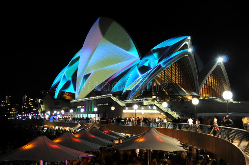 Théatre de l'$opéra de Sydney vif images libres de droits