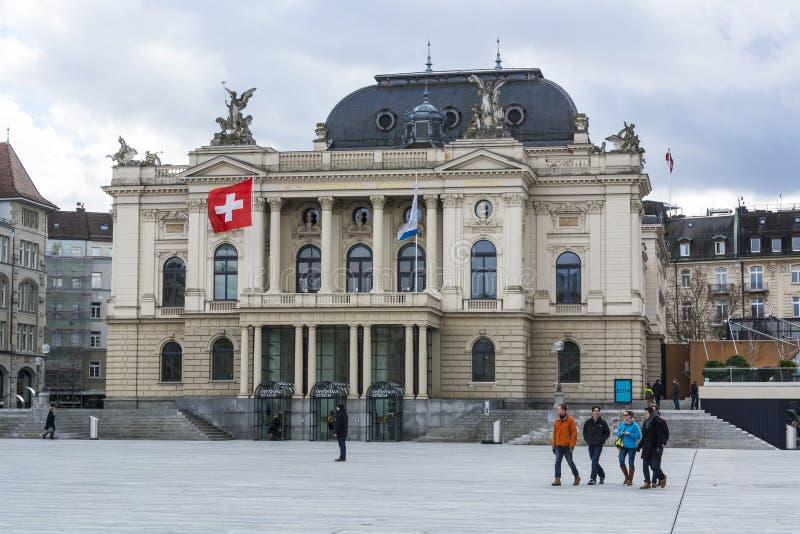 Théatre de l'opéra de Zurich photos libres de droits