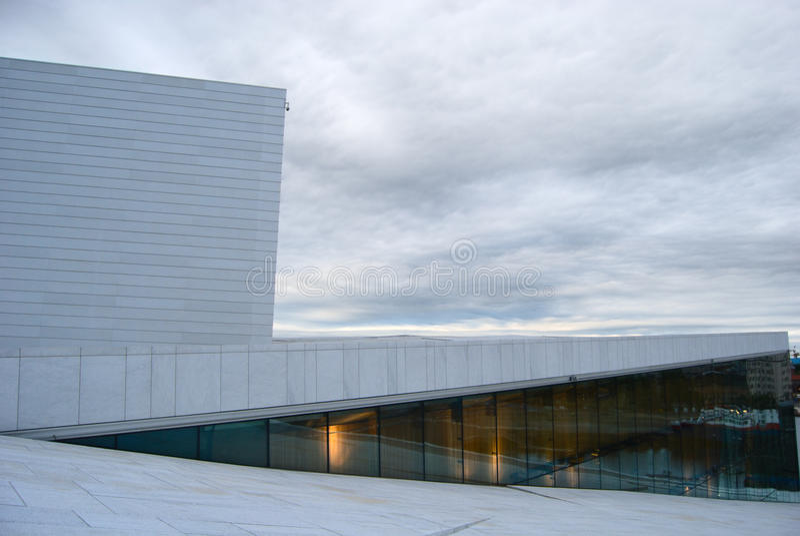 Théatre de l'$opéra national d'Oslo image stock