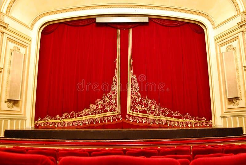 Théatre de l'$opéra public - étape principale et montage photos stock