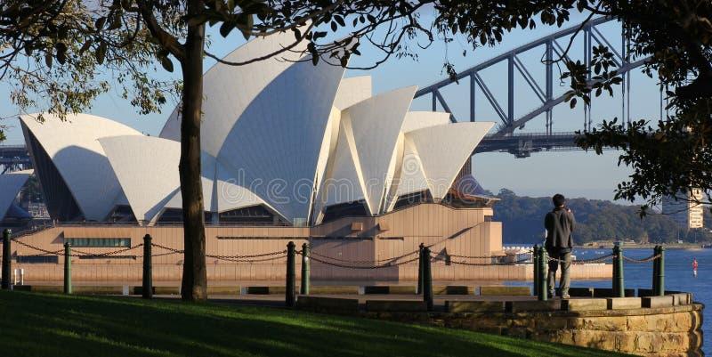 Théatre de l'$opéra scénique de Sydney photo stock