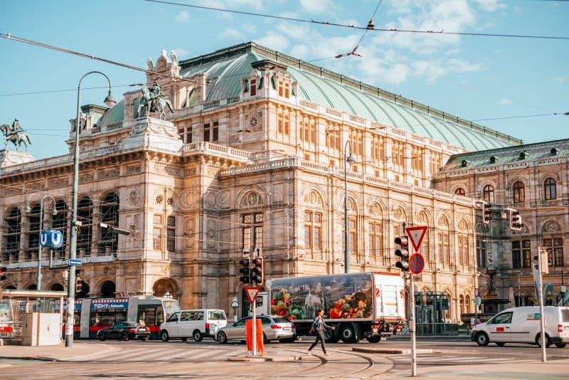 Théatre de l'opéra Vienne d'état images stock