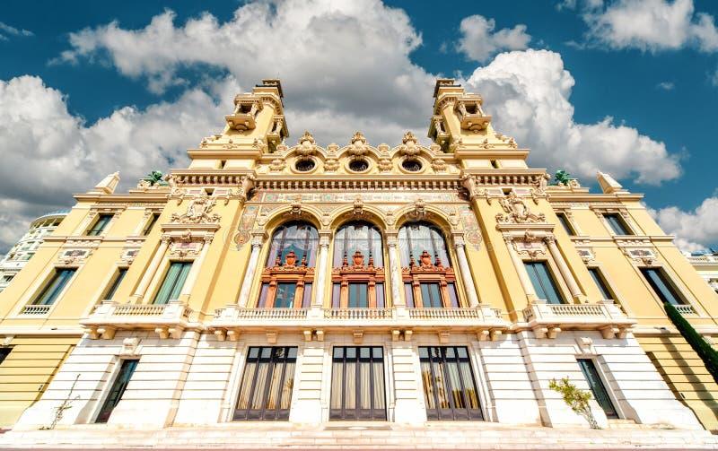 Théatre de Monte-Carlo Casino et de l'opéra photos libres de droits