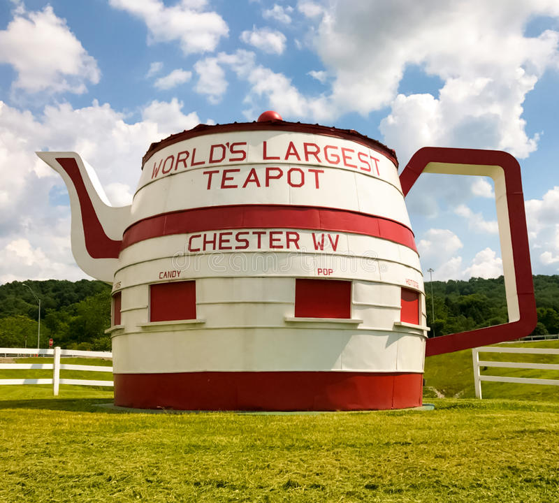Théière Chester West Virginia du ` s du monde la plus grande photographie stock libre de droits