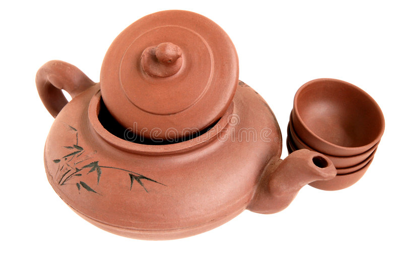 Download Théière chinoise image stock. Image du earthen, traditionnel - 8670625
