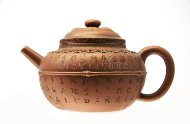 Théière chinoise antique image libre de droits