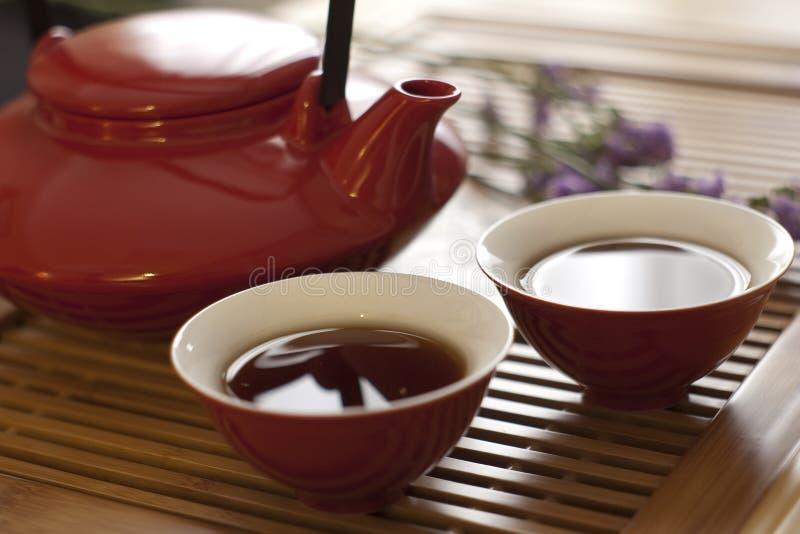 Théière et tasse de thé photos stock