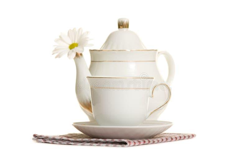 Théière et tasse de thé photographie stock libre de droits