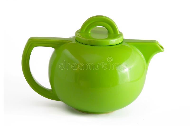 Théière verte images stock