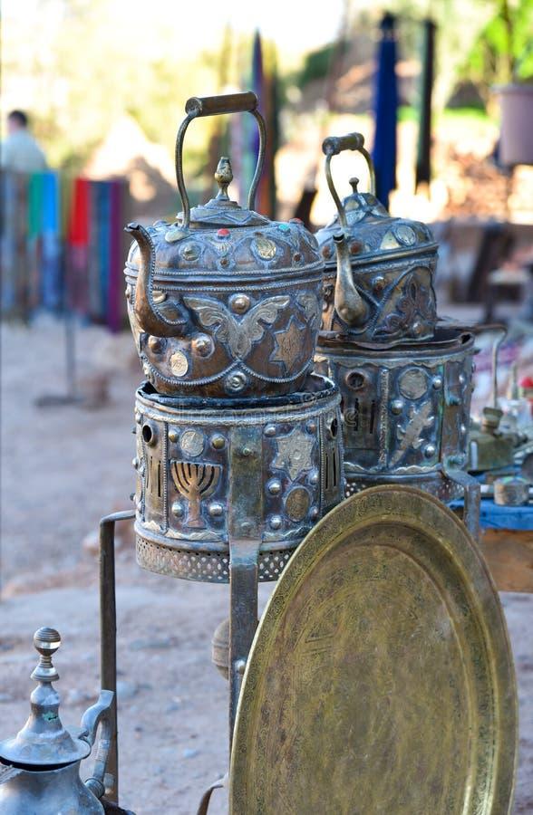 Théières marocaines photos libres de droits