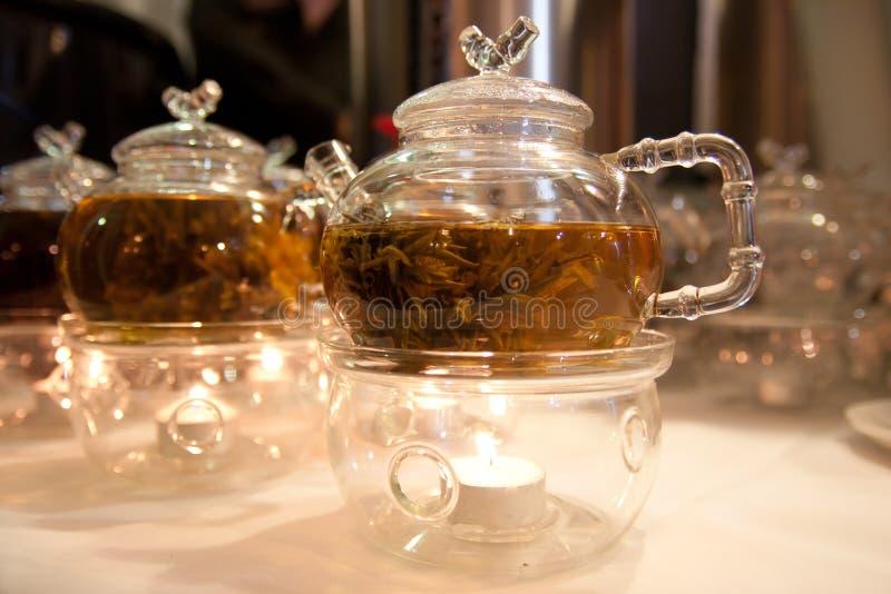 Théières pour la cérémonie de thé image libre de droits