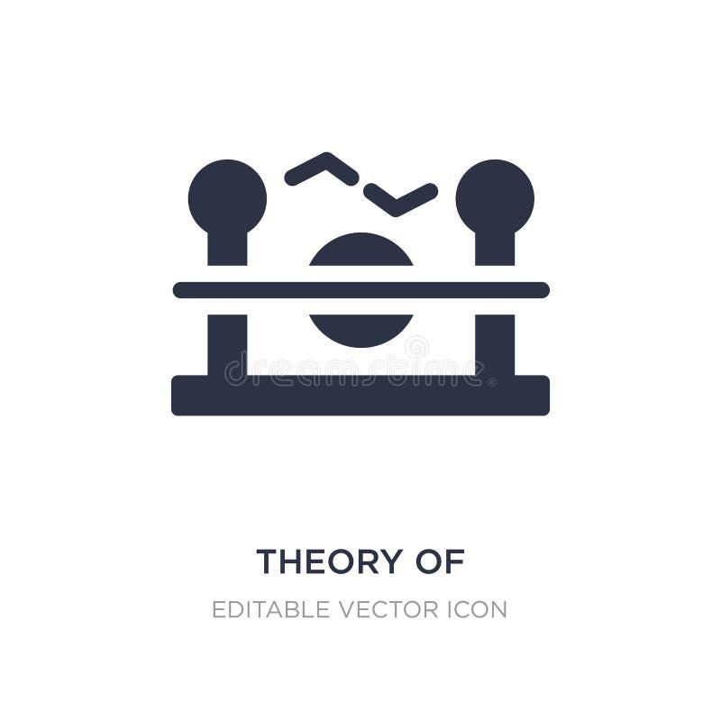théorie d'icône de relativité sur le fond blanc Illustration simple d'élément de concept d'éducation illustration de vecteur
