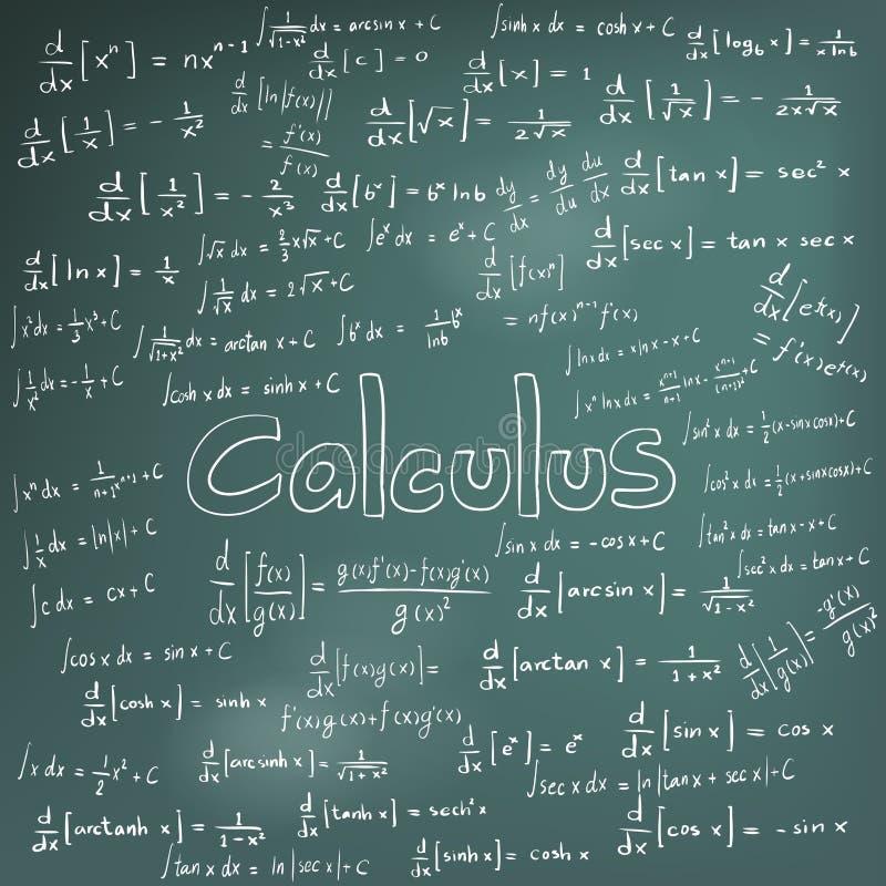 Théorie de loi de calcul et équation de formule mathématique, griffonnage ha illustration libre de droits