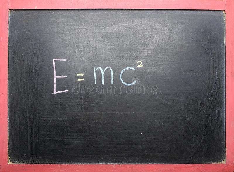 Théorie de relativité photographie stock libre de droits