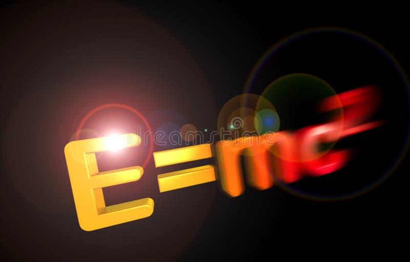 Théorie E=mc2 de relativité illustration libre de droits