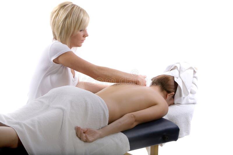 Thérapeute de massage au travail photos stock