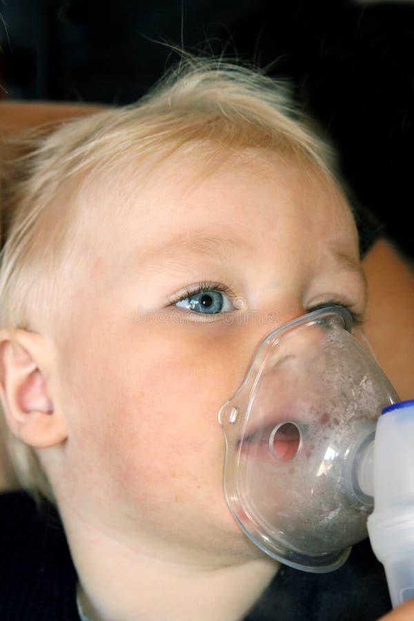 Thérapie d'inhalation photos stock