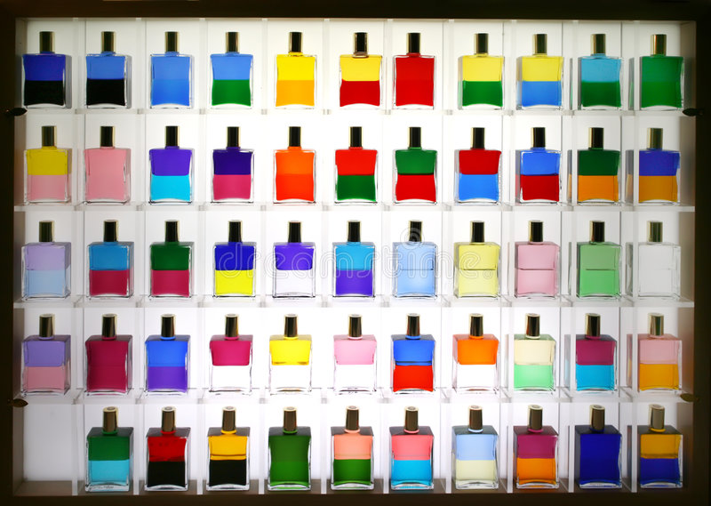 thérapie de couleurs de bouteilles photo stock