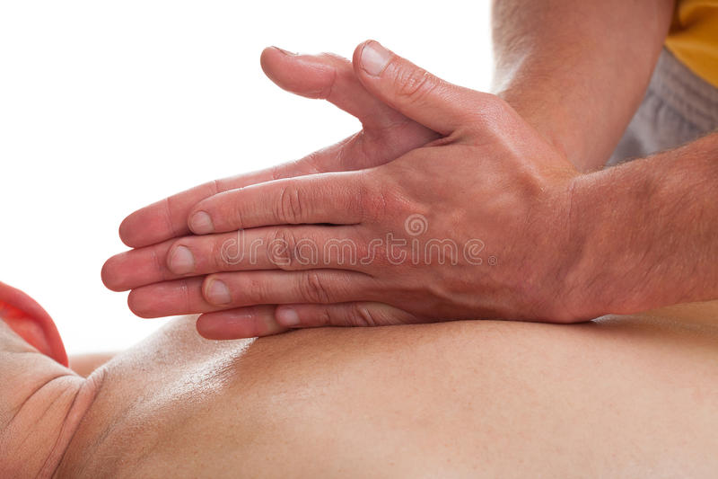Thérapie de massage dans le sport photos stock
