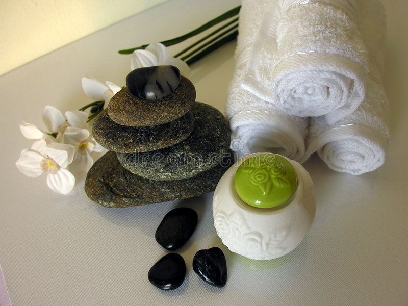 Thérapie en pierre photo stock