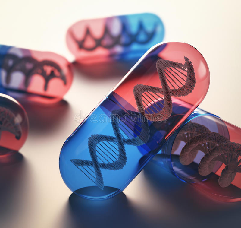 Thérapie génique image stock