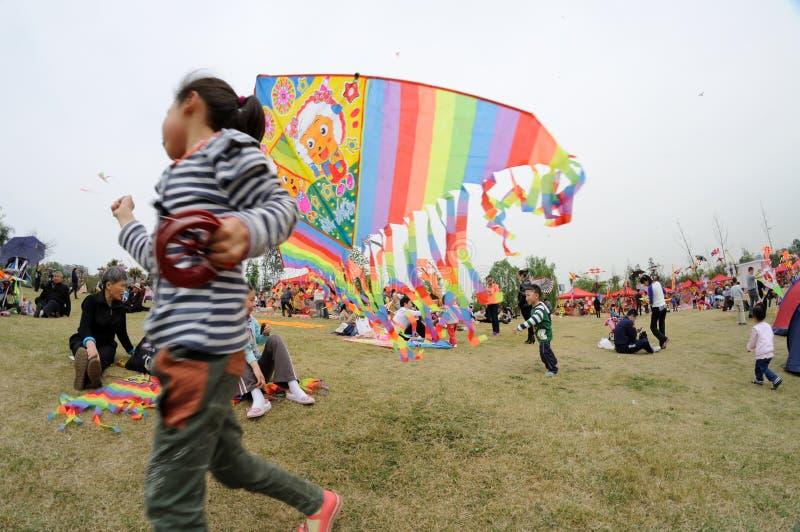2013多国际风筝节日 库存照片