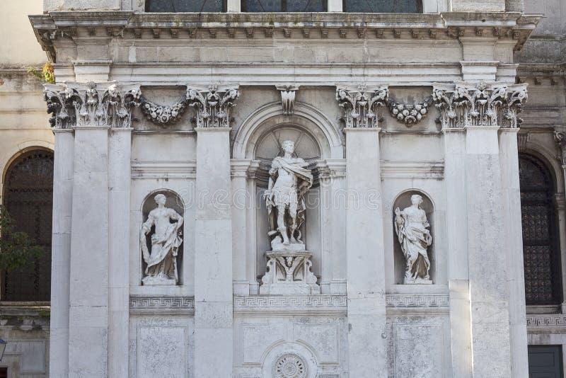 17th århundrade kyrkliga Santa Maria della Salute, Venedig, Italien för barock arkivfoto