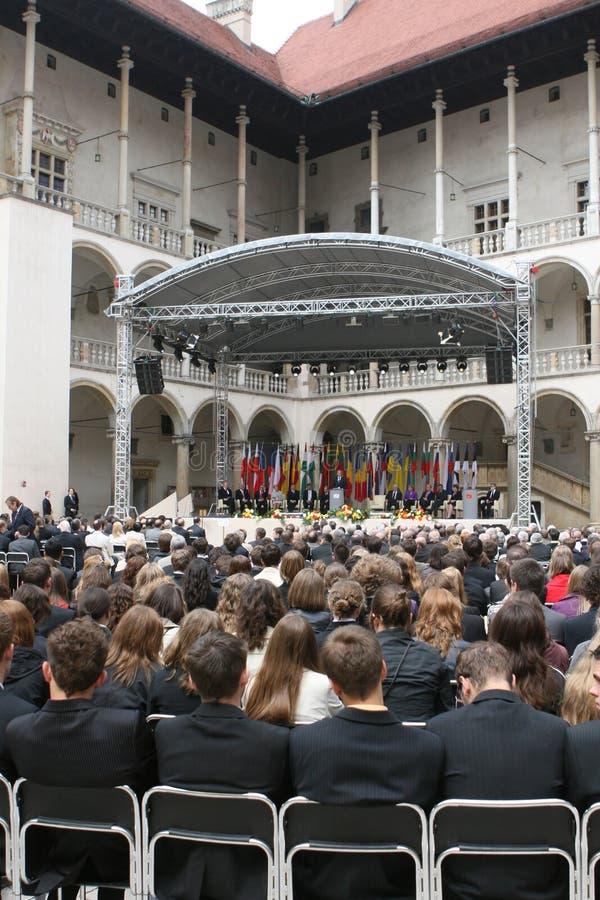 20th årsdag av kollapsen av kommunism i Centraleuropa arkivbilder