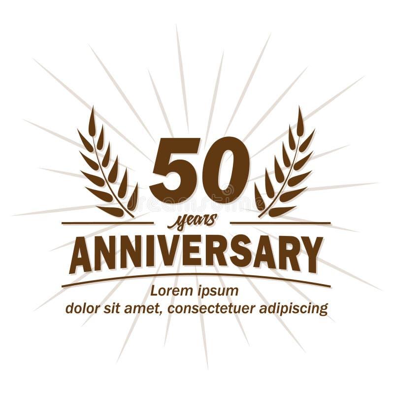 50th årsdagdesignmall 50th årsvektor och illustration royaltyfri illustrationer