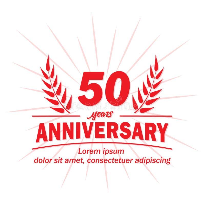 50th årsdagdesignmall 50th årsvektor och illustration vektor illustrationer