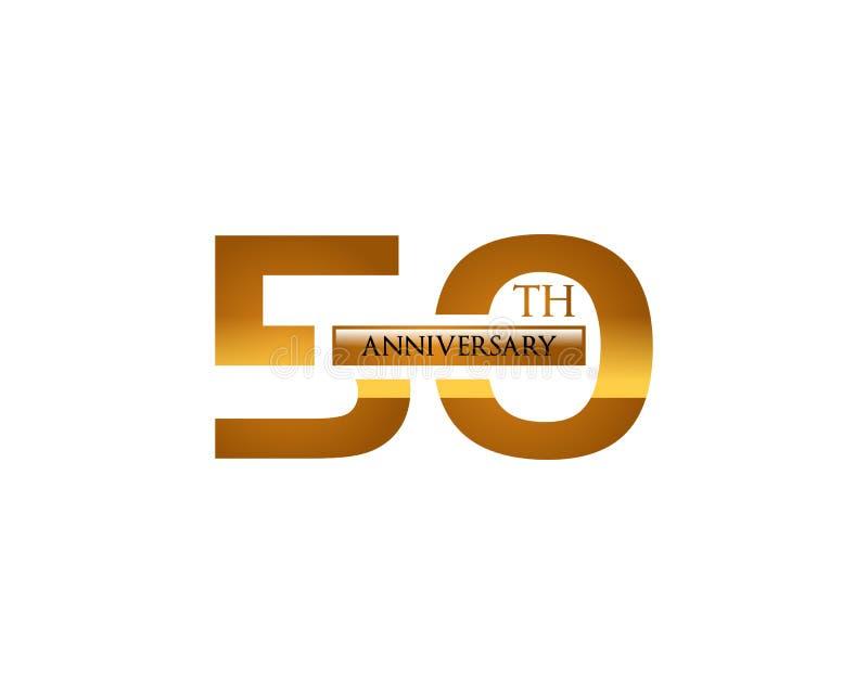 50th årsdaglogo stock illustrationer