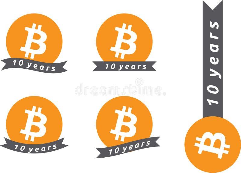 10th годовщина Bitcoin стоковые изображения