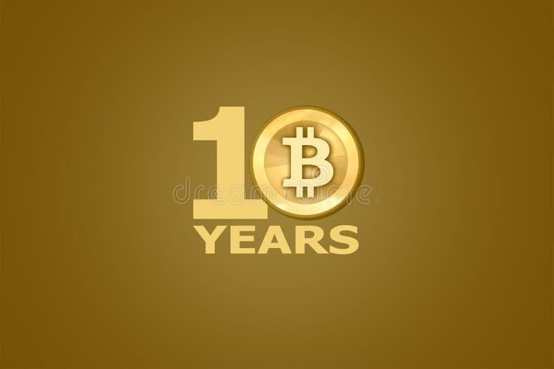 10th годовщина Bitcoin стоковая фотография