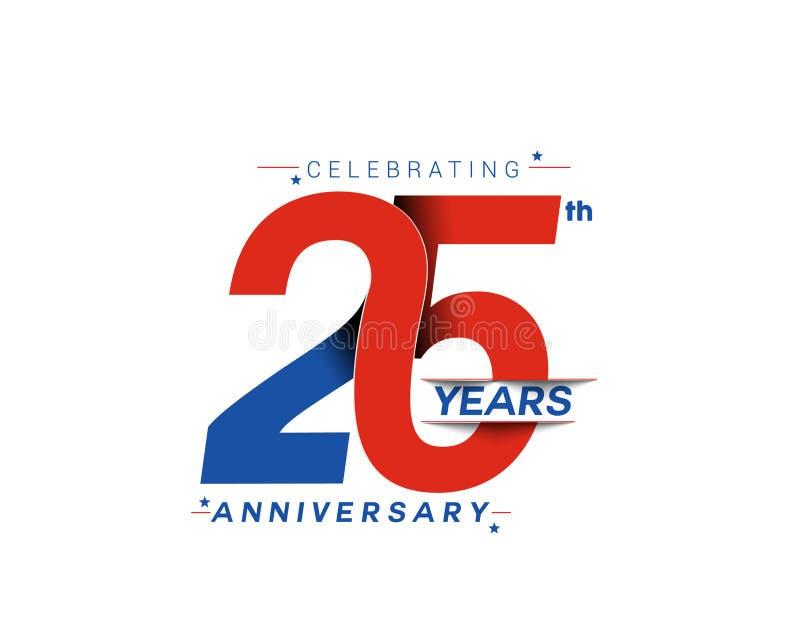 25th дизайн торжества годовщины лет бесплатная иллюстрация