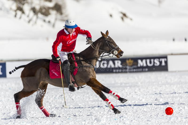34TH КУБОК МИРА ПОЛО СНЕГА - St Moritz стоковое фото