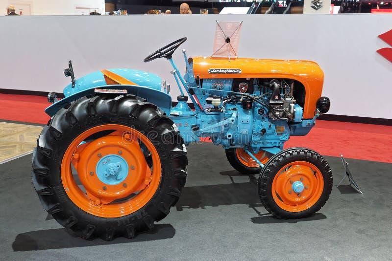 89th мотор-шоу Женевы международное - трактор Lamborghini Lamborghinetta стоковые изображения rf