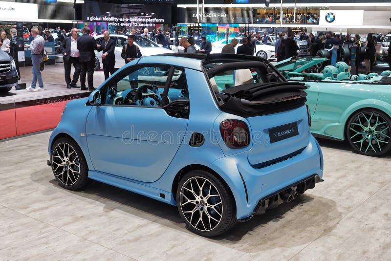 89th мотор-шоу Женевы международное - Manosry умное ForTwo Cabrio стоковое фото rf