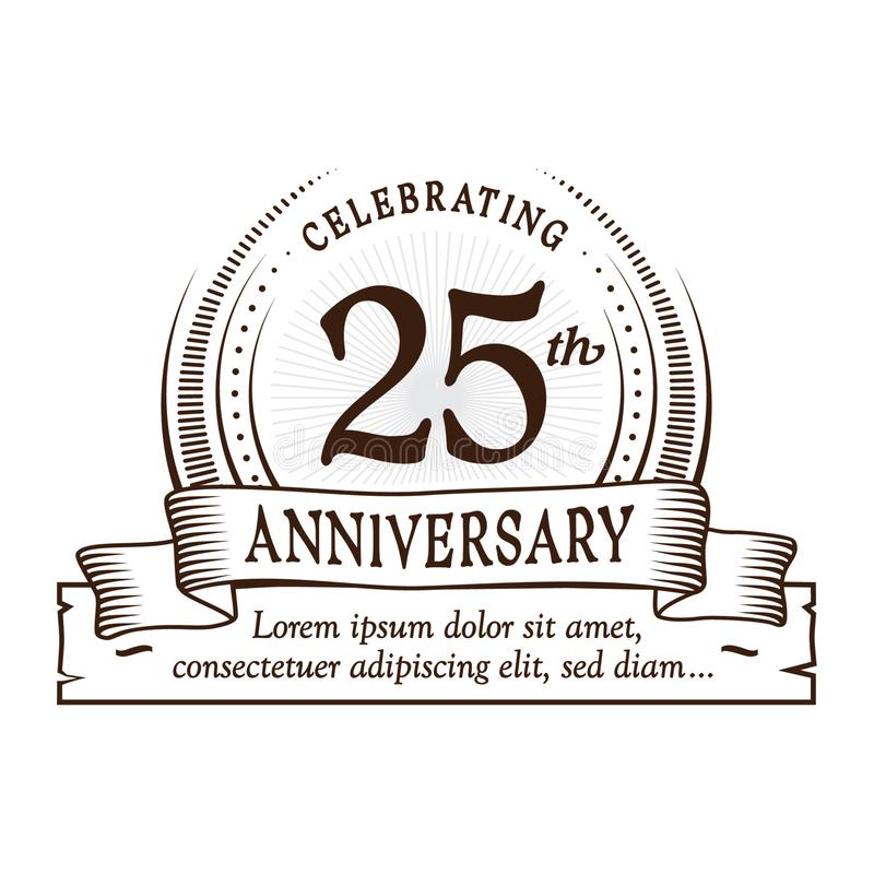 25th anniversary design template. 25 years logo. Twenty-five years vector and illustration. 25 years anniversary celebration design template. Twenty-five years vector illustration