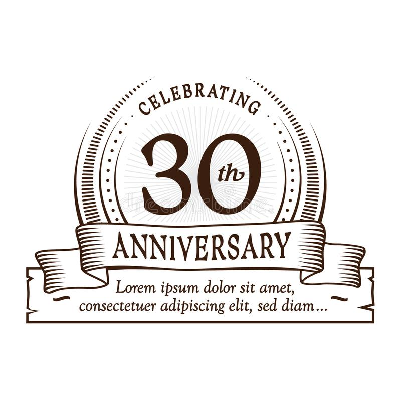 30th anniversary design template. 30 years logo. Thirty years vector and illustration. vector illustration