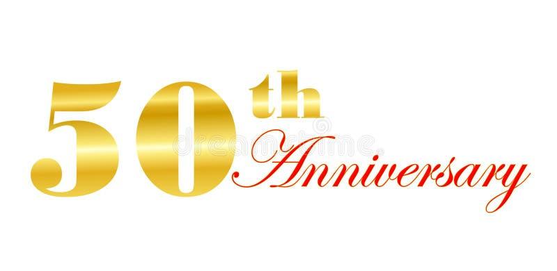 th 50 годовщин иллюстрация вектора