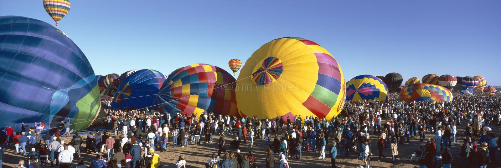 25th Albuquerque internationella ballongFiesta som är ny - Mexiko arkivfoton