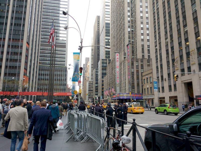 6th aleja, szósty aleja, środek miasta, Manhattan, NYC, NY, usa zdjęcie stock