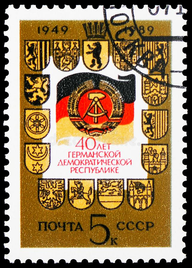 40th aniversário de República Democrática da Alemanha, serie, cerca de 1989 fotografia de stock royalty free